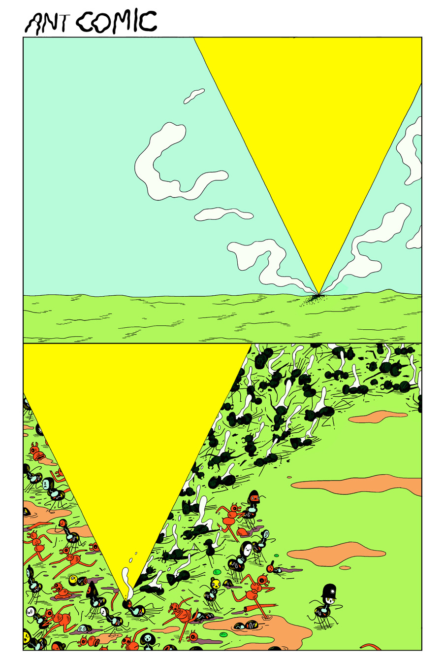 kingtrash:  Ant Comic 29 http://michaeldeforge.wordpress.com/category/ant-comic/  These colors!!!!
