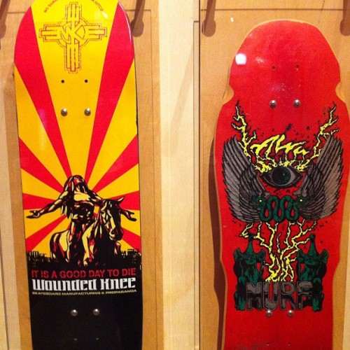 Skateboard Culture in Native America exhibit at the Museum of Man. So rad. #latergram #woundedknee (Taken with Instagram)