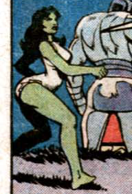 tehawesomnessofshipping submitted:     Savage She-Hulk #25 She kind of looks like Donald Duck.  Oh god, she does.