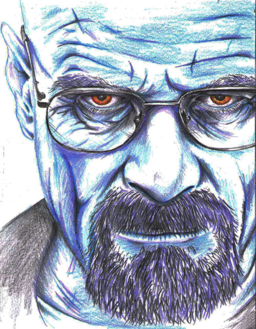 "breakingbadamc:  ""Who is Heisenberg?""  http://jakeemeryart.bigcartel.com/"