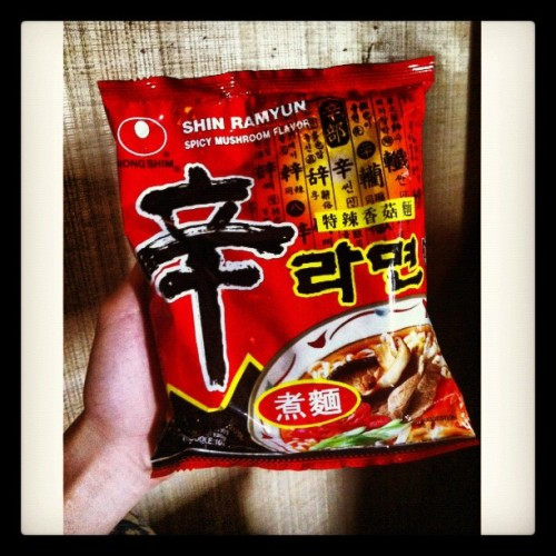 ramen for snacks! #squaready #ramen #korean #noodles (Taken with Instagram)