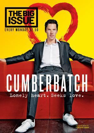 Benedict on the cover of this week's The Big Issue Cymru http://www.bigissue.com/mix/latest-issue/1328/issue-1014/page/5/0  Benedict Cumberbatch on the political status quo - and looking for a mate…