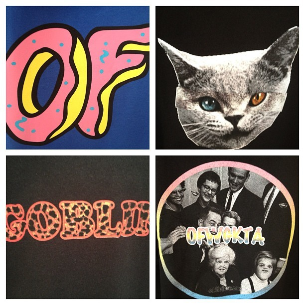 ODD Future Pop-up shop! More tee-shirts, sweaters available on the Eshop and in store! (Pris avec Instagram)