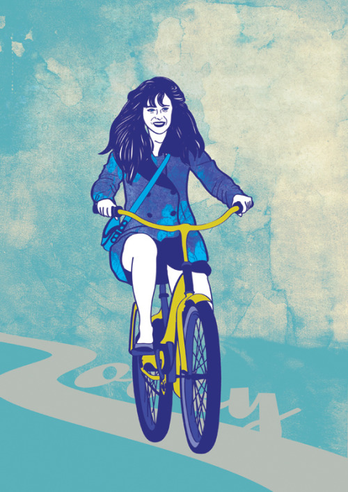 I just found this on my messy desktop. A Zooey Deschanel illustration from a still of New Girl (season 1) series. By the way season 2 really sucks.