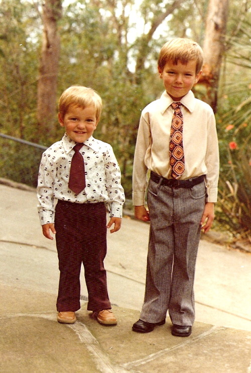 chrislilley:  Me (left) when I was 2yrs old with one of my brothers