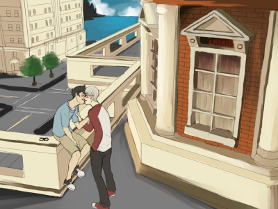 binart:  binart:  lazy background practice turned johndave :B  i guess this also counts as day 1 & 2 of the improve your drawing challenge since i'm about to go sleep the rest of today away LMFAO  reblarghh  eheheh