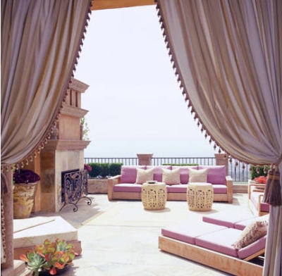 A Dornish terrace overlooking the sea.