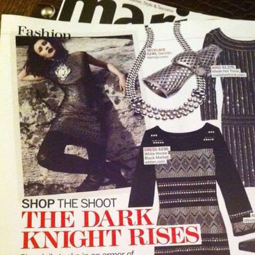 In other #rocknroll news, the dark night rises. Thank you @marieclaire for the shout outs  (Taken with Instagram)