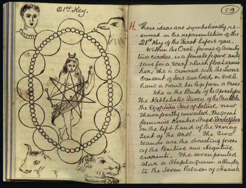 frdelta:  W. B. Yeats' sketches and notes about the Golden Dawn tarot.