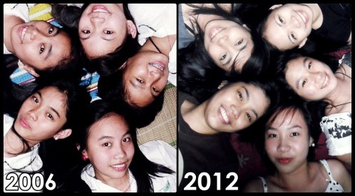 Girlfriends then and now. =)))