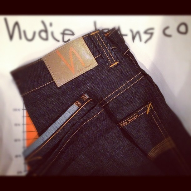 Nudie jean co. Tape Ted. I'm excited to see these broken in!