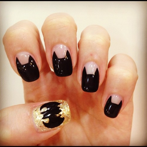 Batman Nail Art ! (Instagram으로 촬영)