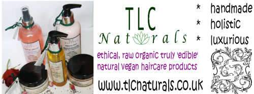 raw, practially 'edible' hair care from TLC Naturals all natural, vegan, ethical & sustainable - no artificial colours, no artificial fragrances, just raw organic ingredients  http://www.tlcnaturals.co.uk