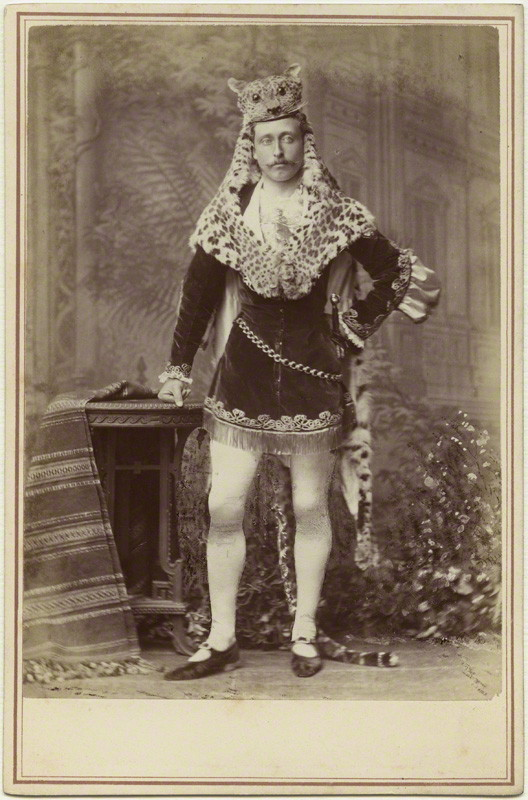 Prince Arthur, 1st Duke of Connaught and Strathearn (Seventh child and third son of Queen Victoria and Prince Albert) in fancy dress. 1878.