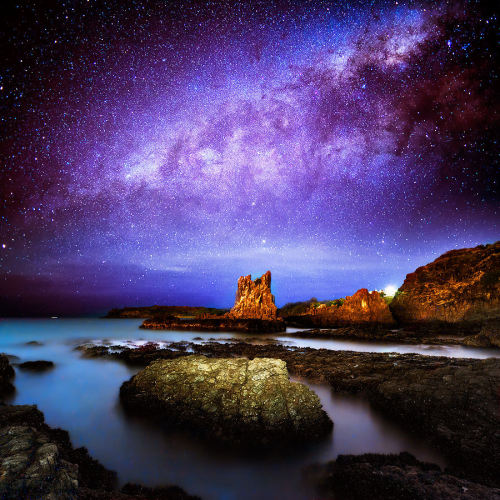 Amid Myriads of Stars above Australia by AtomicZen :) ~edit via ~Lori