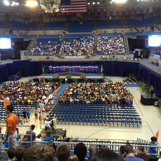 In the O'Connel center for convocation! #uf2016 (Taken with Instagram)