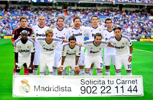 19/08/2012 Real Madrid vs Valencia Starting XI HQ