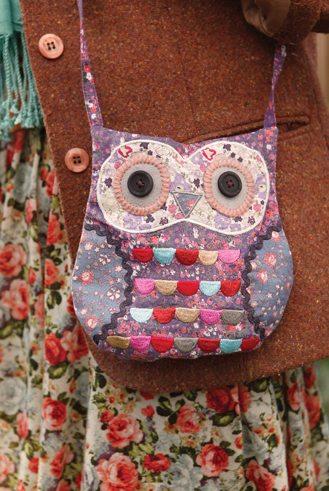 Our Megan 'Purple' owl shoulder bag