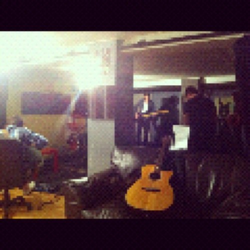 busy in our studio in prep for recording in Leeds this week!  (Taken with Instagram)