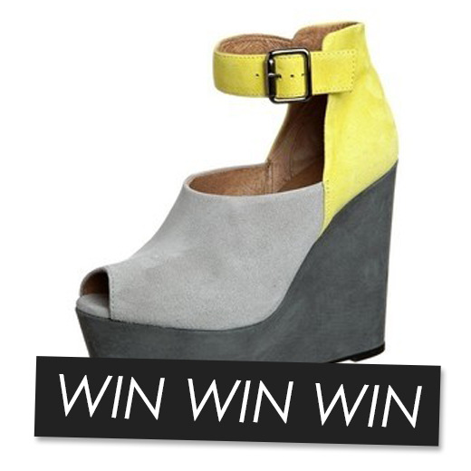 Work it in these wedges! Zalando and Fashiolista are giving a pair to one lucky girl who enters our giveaway here!
