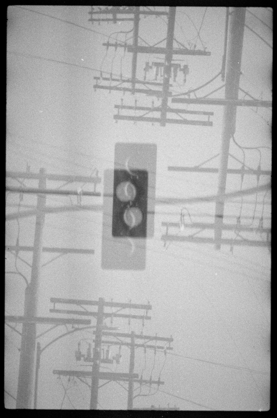 signals, double exposures Kodak 200 color film developed as black and white © auxiliofaux, 2012