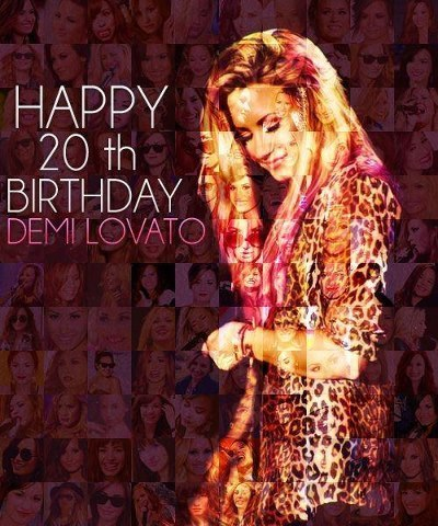 4memeucluhazza:  Happy Birthday Demi <3