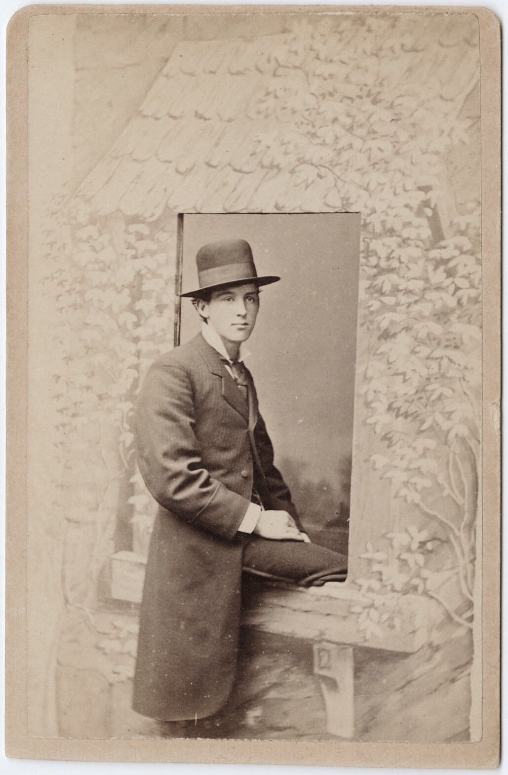 tuesday-johnson:  ca. 1855-95, [carte de visite portrait of Tom Coughlan sitting within a studio prop window], Charles Lake Cramer via the Yale Collection of Western Americana, Beinecke Rare Book and Manuscript Library, Carl Mautz Collection