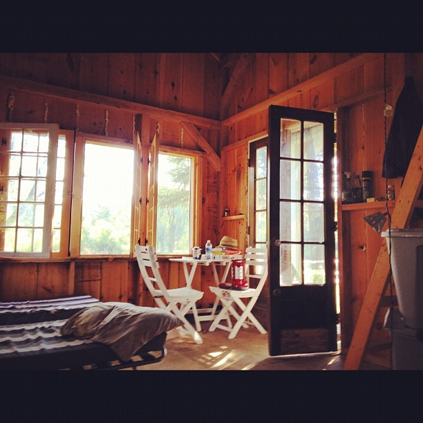 Beautiful morning. #cabin #friends #sunny #wood #9am #beauty (Taken with Instagram at the land)