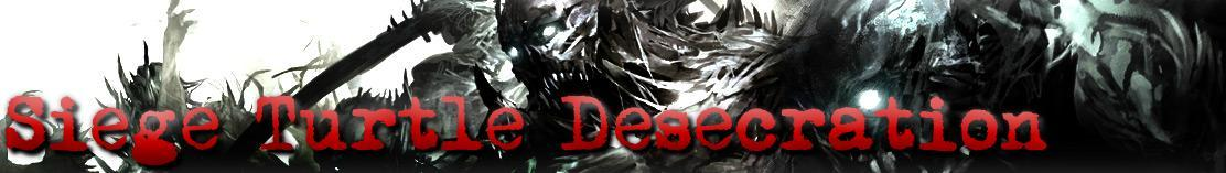 Guild Wars 2 is right around the corner!My guild [Siege Turtle Desecration] will be recruiting all players on the JADE QUARRY US server. We are an EST guild based out of Jacksonville, Florida where most of our members reside, however we are more than willing to accept any and all players who wish to rep the [STD] banner. Send me a note on here if you wish to join, or hit the website linked on this image to head over to our homepage to apply. See you all in game!