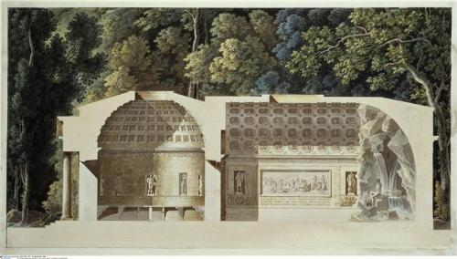 Cross section of Marie Antoinette's dairy at Rambouillet (C) BPK, Berlin, Dist. RMN-Grand Palais / image BPK