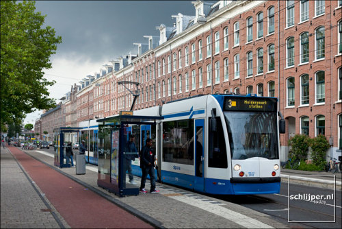 Cycle paths, trams and human scale density! A nice shot of Amsterdam's great built environment! Photo:  Thomas Schlijper