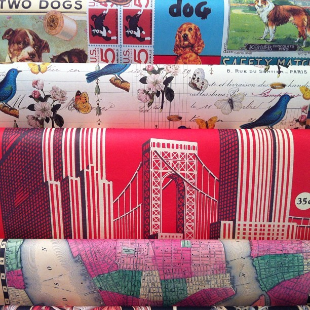 Sheets of gift wrap from Cavallini & Co. at the Gift Fair yesterday. As usual, I want them all.