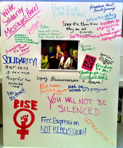 Solidarity messages for Pussy Riot