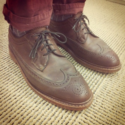 Brogue's [08.20.12] #thecoopp #mensshoes #shoes #todayskicks #mensfashion #gq #mensstyle #florsheimshoes #florsheim #detail #wingtip  (Taken with Instagram)