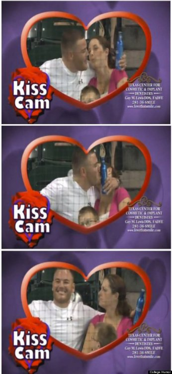 Kiss Cam Guy Chooses Beer Over Girlfriend