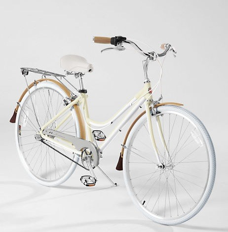 Feelin' this all-white Lands' End x Schwinn bicycle. (There's a version for guys too.)