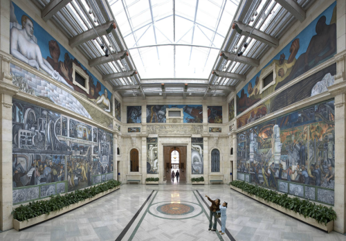 The Rivera Court at the Detroit Institute of Arts. (Courtesy of the Detroit Institute of Arts)  Residents of Macomb, Oakland, and Wayne counties in Michigan voted to raise their own property taxes a fraction of a percent to help fund the Detroit Institute of Arts. The 127-year-old museum, which is home to work by Vincent Van Gogh and Diego Rivera, has struggled for years to sustain itself with diminishing government funding. More.