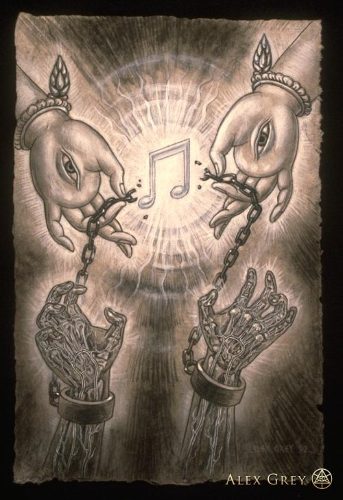 flesheatintacos:  Music of Liberation by Alex Grey, 1997