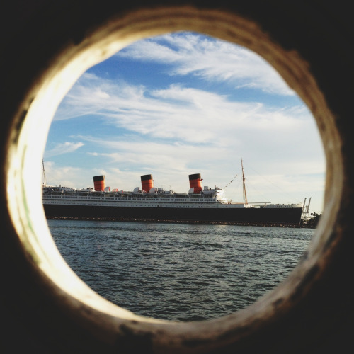 Through the portal A shot of the Queen Mary in Long Beach Harbor processed with VSCO Cam.  Follow me on Instagram