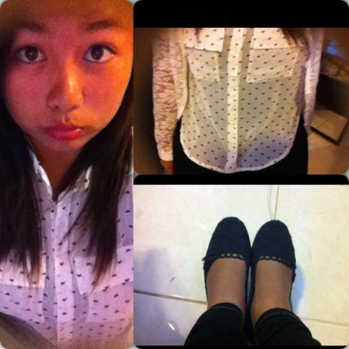 OOTD #ootd #schooltime #instacollage #loveyeah #kbaii (Taken with Instagram)