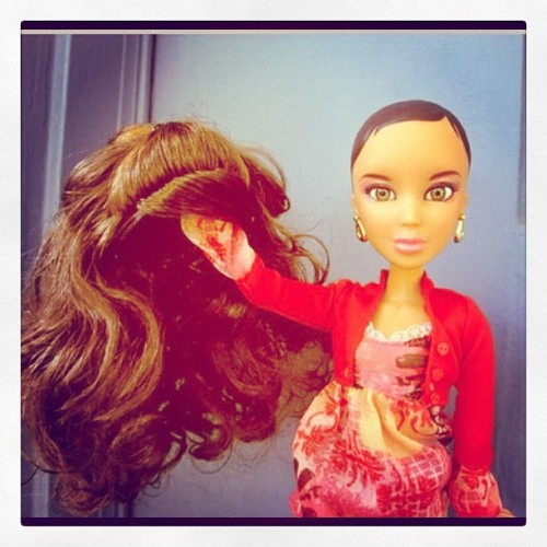 Thought this was interesting. #noWeave #TeamNatural #Black #Barbie (Taken with Instagram)