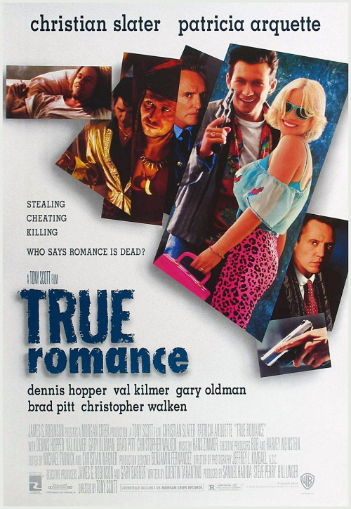 """True Romance"" (1993)  In which Scott showed what he could do if given a really good script (this one by a then-barely-known young screenwriter named Quentin Tarantino). The film features perhaps the most passionate and poignant romance in any Scott movie, even though it's a lovers-on-the-lam movie full of bloody violence. Christian Slater and Patricia Arquette are immensely appealing, but Scott also overstuffs the cast with overqualified thespians (Gary Oldman, Val Kilmer, Brad Pitt) and just allows them to run wild for a few minutes and step aside. Best is the quiet, unbearably suspenseful kitchen-table confrontation between Christopher Walken and Dennis Hopper, a sequence that proves Scott really could direct actors.  Remembering the Work of Tony Scott"