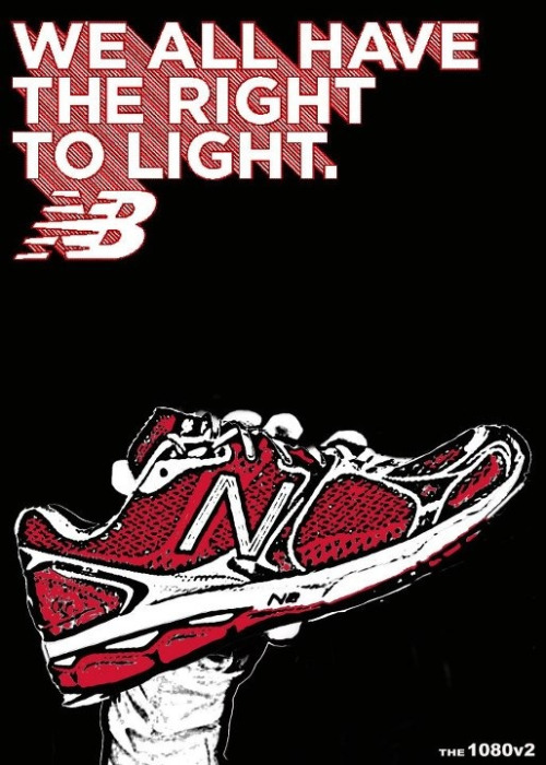 New Balance hand drawn with digital elements