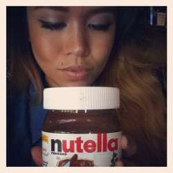 Nutella all day everyday! #4life ! #nutella #love #madness #sugar #sucre #chocolate #sweet #goodness #photooftheday #instagood  (Taken with Instagram)