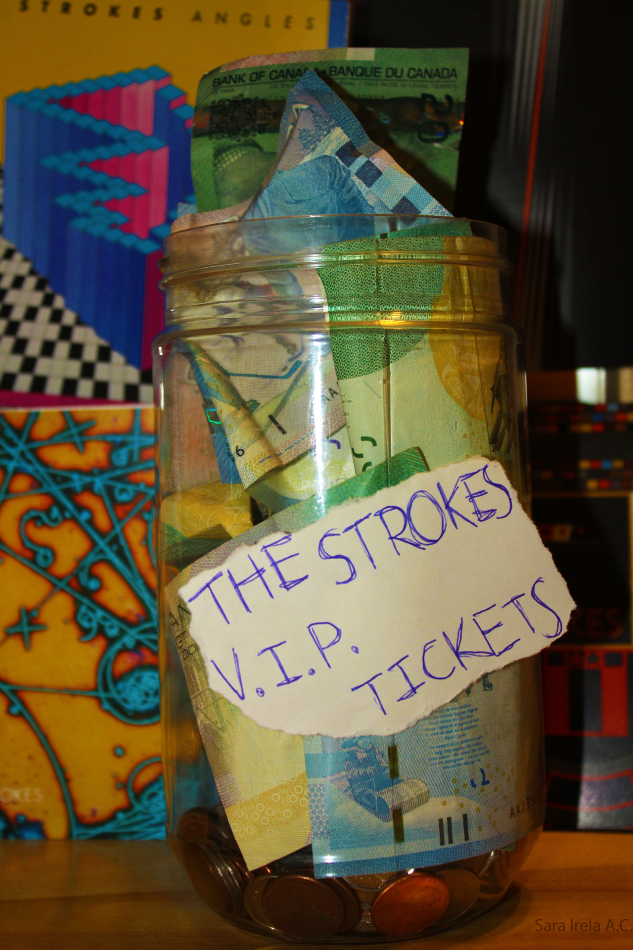 Yes this is actually my savings jar for The Strokes' concert Someday♥