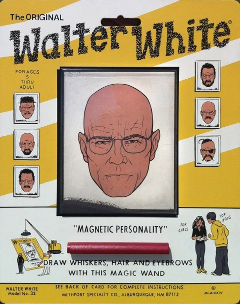 I love this interpretation of Walter White. Throwback goodness.  Could be dope as a campaign. #BreakingBad  laughingsquid:  Wooly Walter White by Casey Weldon