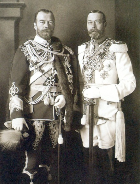 King George V. and Csar Nicholas II.