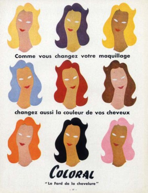 Coloral hair color from L'Oreal, 1957