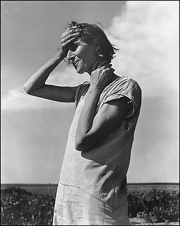 "Dorothea Lange, Woman of the High Plains, ""If You Die, You're Dead–That's All"", Texas Panhandle, 1938"