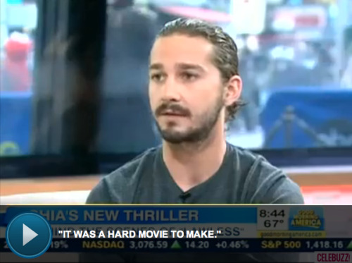 "Shia LeBeouf calls his new indie flick ""a risk"""